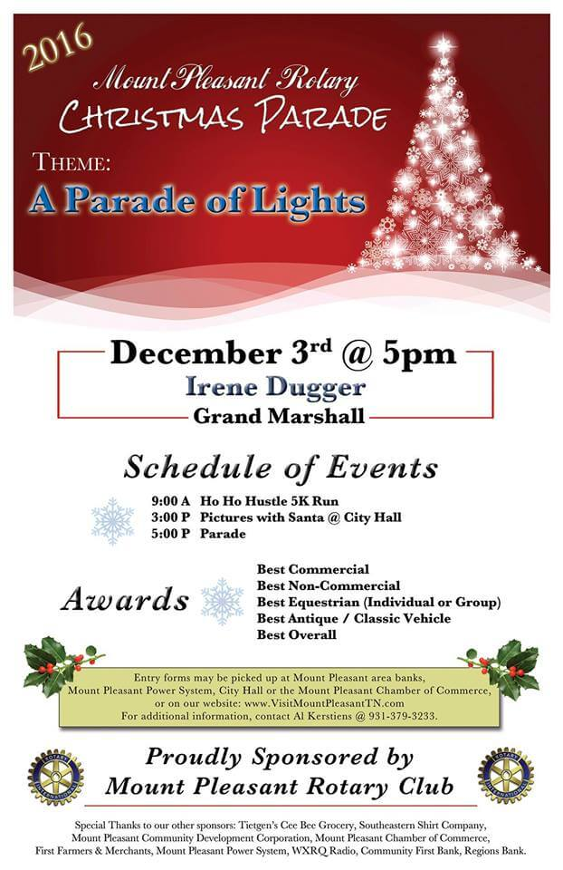 2016 rotary mount pleasant christmas parade - Mount Pleasant Christmas Parade